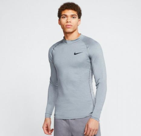 Nike PRO Top Tight LS Mock (с воротником) - Компрессионная Кофта - 3