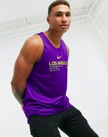 Nike Los Angeles Lakers Reversible Tank Standard Issue Courtside - Двухсторонняя Баскетбольная Майка - 3