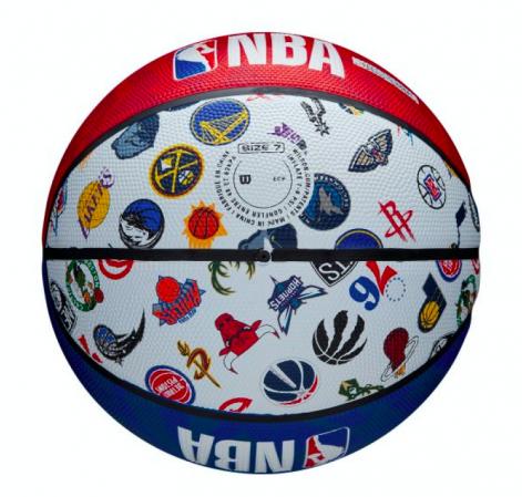 Wilson NBA All Team Basketball Outdoor - Уличные Баскетбольный Мяч - 4