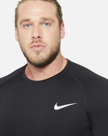 Nike Pro Men's Tight-Fit Short-Sleeve Top - Компрессионная Футболка - 4