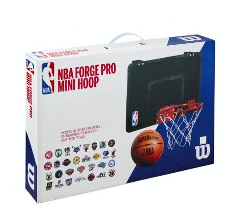 Wilson NBA Forge Acrylic Mini Hoop - Баскетбольное Мини-кольцо(+30 стикеров команд NBA) - 3