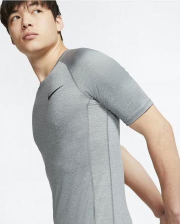 Nike Pro Men's Tight-Fit Short-Sleeve Top - Компрессионная Футболка - 3