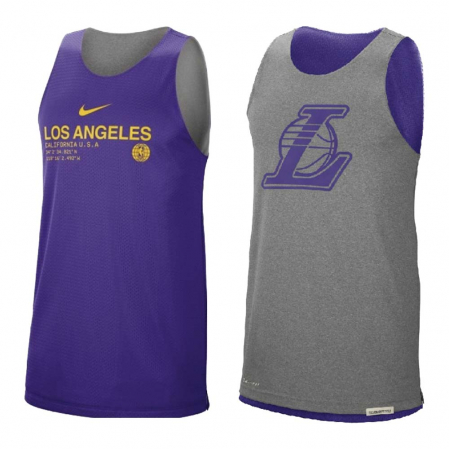 Nike Los Angeles Lakers Reversible Tank Standard Issue Courtside - Двухсторонняя Баскетбольная Майка - 1