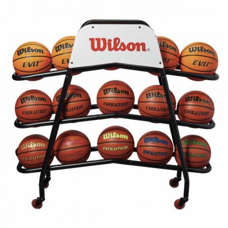 Wilson Deluxe Basketball Cart - Стойка на 15 мячей - 1
