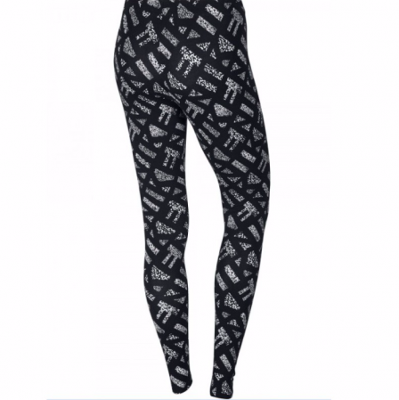 Nike Womens Club Allover Print Leggings - Женские Лосины(Леггинсы) - 2