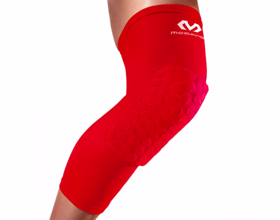 McDavid Extended Compression Leg Sleeve with Hexpad - Компрессионный Наколенник с Защитой - 1