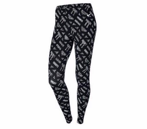 Nike Womens Club Allover Print Leggings - Женские Лосины(Леггинсы) - 1