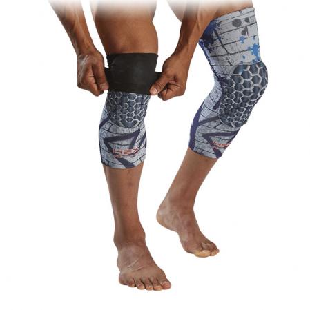 McDavid Hex Reversible Leg Sleeve - Компрессионный наколенник с защитой(2 штуки, двухсторонние) - 2