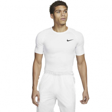 Nike Pro Men's Tight-Fit Short-Sleeve Top - Компрессионная Футболка - 1
